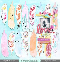 Project Ideas for Bella Blvd - Illustrated Faith - She Blooms Collection - 12 x 12 Double Sided Paper - She Blooms Kids Scrapbook, Scrapbook Page Layouts, Scrapbook Paper Crafts, Scrapbook Cards, Scrapbooking Ideas, Hip Kit Club, Illustrated Faith, Studio Calico, Deco
