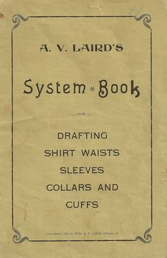 Early 1920's guide to drafting shirtwaists, courtesy of Ginger Makes