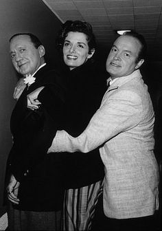 """""""All Star Christmas Show, 1958"""" Jack Benny, Jane Russell and Bob Hope"""