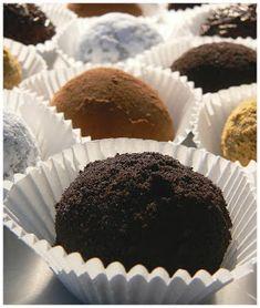 Le palais gourmand: Truffes au chocolat et au beurre d'arachide
