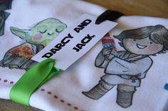 Star Wars tea towel invitation