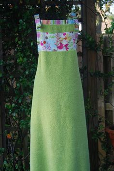 Baby Bath Apron Towel, Green, Enchanted Forest