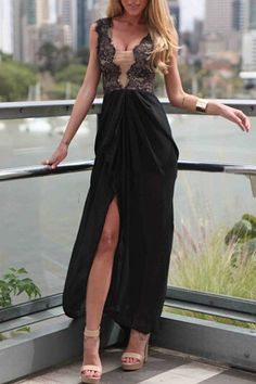 Sleeveless Maxi Charming Women Dress in Black http://hisandherfashion.com/products/sleeveless-maxi-charming-women-dress-in-black
