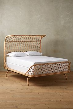 Curved Rattan Bed #anthropologie