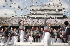 Hat Toss! Graduation Ceremony for West Point Class of 2012! Welcome to the Long Gray Line!