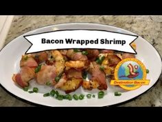 EASY and DELICIOUS! For Marinade: Tbsp of toasted sesame oil -Zest and juice of one lime Tbsp of grilling sea. Bacon Videos, How To Devein Shrimp, Bacon Wrapped Shrimp, Best Bacon, Large Shrimp, Bacon Recipes, Red Peppers, Potato Salad, Delish