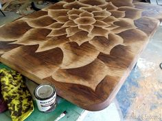 Shading with wood stain technique - by Sawdust & Embryos...really need to find an overhead projector!