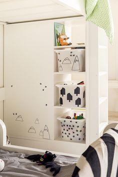 Inspiración Ikea: Increíble Habitación infantil compartida - DecoPeques
