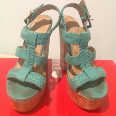 Turquoise wedges Charlotte Russe wedges Shoes