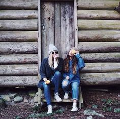 Spending our Saturday with friends | wearing Jacket C03, Beanie C07, Denim Blouse C42, and Beanie C21 #getoutside #ootd