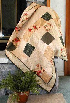 Simple yet elegant quilt--NICE! Love the neutrals.
