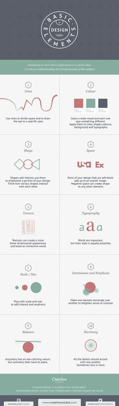 Infographic: 10 Basic Elements of Design http://crt.mk/Mq0TN