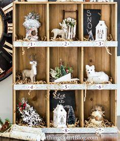 Rustic Farmhouse Christmas Cubbies