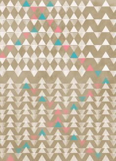 Triangles GaloreSarah Palisi Designfine art print    make it mine  *selection by guest curator Kaitlyn Patience