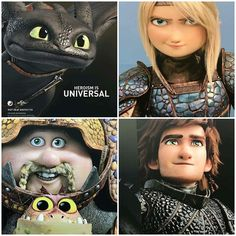 Httyd3 new outfits #hiccup #astrid #httyd3 Httyd 3
