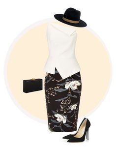 """""""Untitled 11-12"""" by mermadem8 ❤ liked on Polyvore featuring River Island, Roland Mouret, Edie Parker, Jimmy Choo and Janessa Leone"""