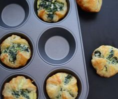 Spinazie-feta muffins