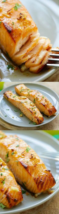Honey Mustard Baked Salmon by rasamalaysia: 10 mins active time and dinner is ready! #Salmon #Honey #Mustard #Healthy #Quick