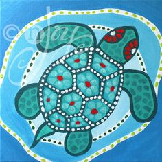 Whimsical Art, 3 FUNKY TURTLES, Set of 3 12x12 Acryic Canvas Paintings for Home and Office Decor