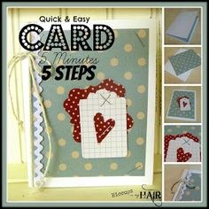 Hiccups in my Hair...: TIP Tuesday {Cards}: Quick & Easy Card...5 Steps...5 Minutes
