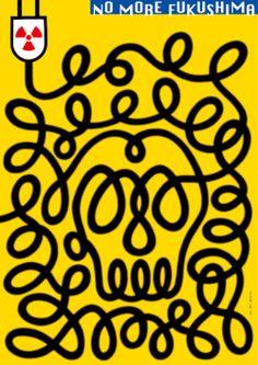 Japanese Poster: No More Fukushima. U.G. Sato. 2011 - Gurafiku: Japanese Graphic Design