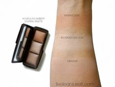 HOURGLASS AMBIENT LIGHTING PALETTE Swatches