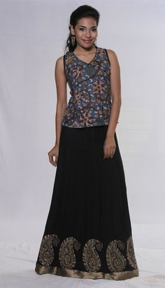 A Kalamkari Skirt and Top Set - perfect for Summer days or nights