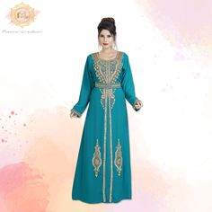 Dress yourself in this beautiful phirozy Kaftan Dress, ideal for an intimate wedding function. Available in sizes XS to 5XL. Product no: 8040 Georgette Fabric, Kaftan Abaya, Wedding Function, Sequins, Bridesmaid, Formal Dresses, Lady, Womens Fashion, Dama De Honor
