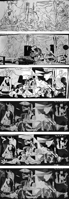 Charles often referred to t his masterpiece by Pablo Picasso in his speec. - Charles often referred to t his masterpiece by Pablo Picasso in his speeches. Pablo Picasso, Picasso Guernica, Kunst Picasso, Picasso Art, Picasso Paintings, Human Figure Sketches, Figure Sketching, Max Ernst, Mougins France