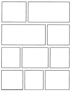 comic book layout template google search