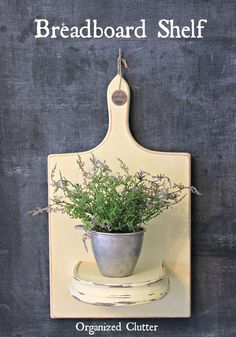 Breadboard Shelf | 10 Unexpected Ways to Upcycle Household Items | Creative DIY Ideas that will Save you Lots of Money by DIY Ready at http://diyready.com/10-unexpected-ways-to-upcycle-household-items/