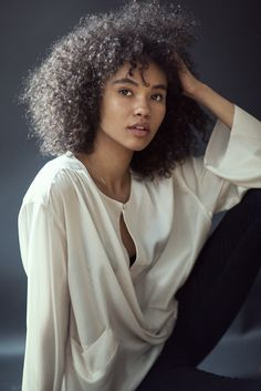 Zuri (Isabella Peschardt the model). Don't forget the scar on her left eye. Isabella Peschardt, Blake Steven, Curly Hair Styles, Natural Hair Styles, Curly Girl, Black Women Hairstyles, Models, Beautiful Black Women, Pretty People