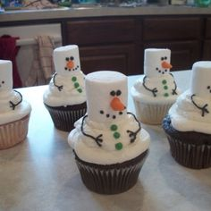 Snowman cupcakes. I would have to add a candy hat though.:)