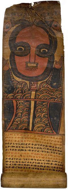 Magic Scroll. Ethiopia, Tigre.  Mid 19th c.