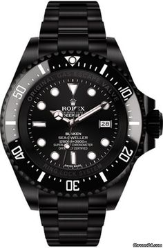 Rolex Deepsea (black, DLC) $23,554 #rolex #watch #watches #chronograph steel case steel bracelet automatic movement waterproof up to 3900m/12800ft