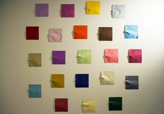 """Kumi Yamashita: Selected works/ Yamashita bends and folds the origami paper in such a way that it cases the shadow of a silhouette on the wall. """"I use very subtle force, very slowly,"""" she says. """"You have to be careful not to bend it too much. It's very fragile work; if anyone touches it, that's it. """""""