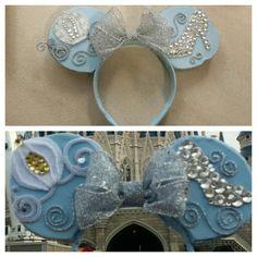 Princes Cinderella Mickey Ears get it @bowsbymartha