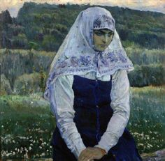Mikhail Nesterov - the bride of Christ,1913