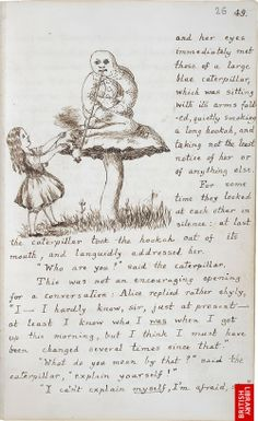 Alice's Adventures Under Ground, the original version of the book that Carroll presented to Alice Liddell in 1864, is presently housed in th...