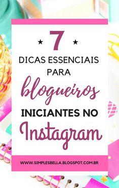 O instagram é uma das maiores, mais populares e poderosas plataformas sociais, e você como blogueiro ou empresário precisa investir nela. A rede social de compartilhamento de fotos ganha diariamente novos usuários, e estes podem ser seus leitores e clientes em potencial. Hoje eu trago 7 dicas essenciais para blogueiros iniciantes no Instagram, para quem vai dar os primeiros passos nessa rede social e precisa de um guia simples - ao final tem um bônus! #instagram #instagramdicas #blogging…