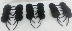 Total of 12 Inspired Disney Traditional Black Mickey Mouse Ears Birthday Party Favors Disneyland Family trip
