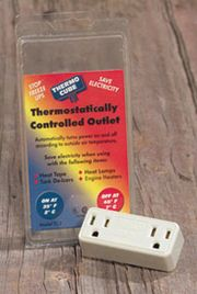 Thermo Cube thermostatically controls your electrical outlets. There is no installation required. Just plug it in. Thermo Cube is a unique and patented electrical device. They plug into a standard 15 amp electrical outlet which turns the power on automatically according to outside temperature. We offer two models each with a different temperature range. Each Thermo Cube has two receptacles for use with more than one electrical device rated 15 amps. Runs your unit only when necessary.