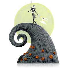 Hallmark 2015 Disney Tim Burton's The Nightmare Before Christmas Here Comes the Pumpkin King Ornament X.