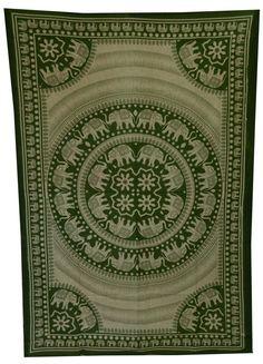 Elephant Mandala Tapestry Hippie Wall Hanging by HandicraftsPalace, $15.99