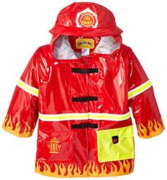Kidorable Little Boys' Fireman All Weather Waterproof Coat * Click here for more details @