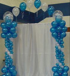 Balloon columns with arch. Balloon column.  #balloon-column #balloon-decor