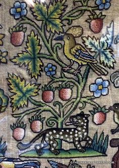 Petit embroidery from the 1600s