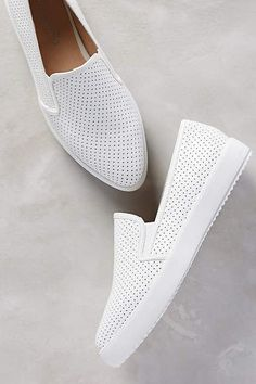 White Slip on sneakers must have