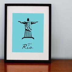 Rio Brazil - Choose Your Colors Print 8x10. $25.00, via Etsy.