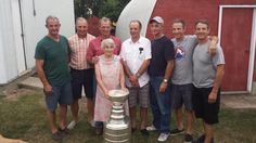THIS is a Hockey Mom! The Sutters have won 8 Stanley Cups.